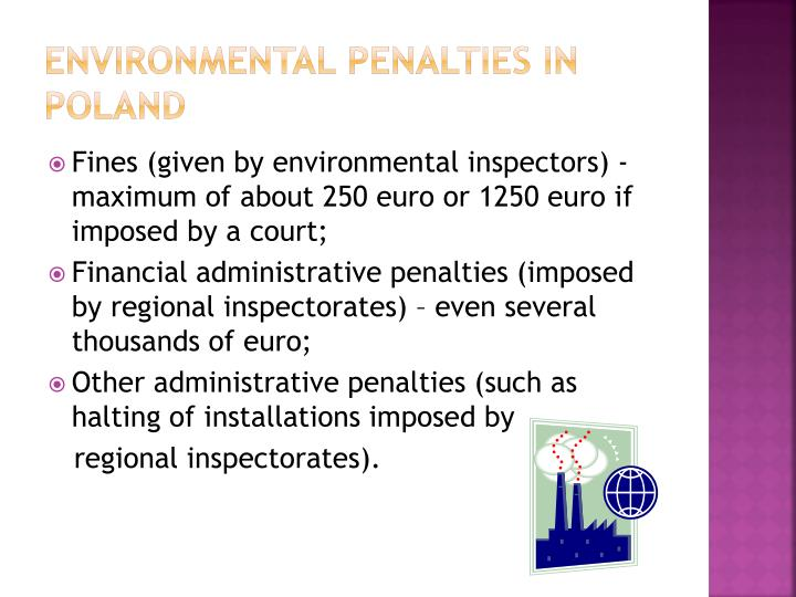 Environmental penalties in poland