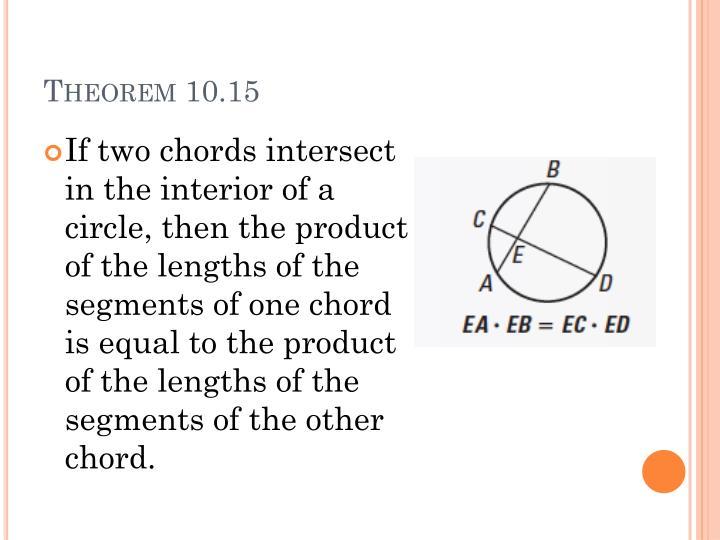 Theorem 10.15