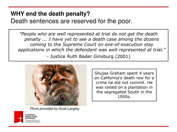 WHY end the death penalty?