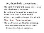 oh those little conventions
