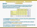 probabilidad condicional conjunta y marginal