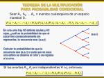 teorema de la multiplicaci n para probabilidad condicional