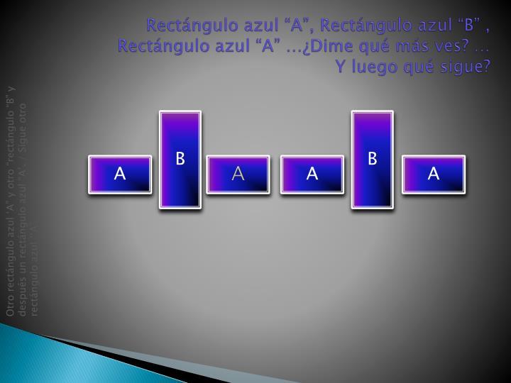 "Rectángulo azul ""A"", Rectángulo azul ""B"" ,"