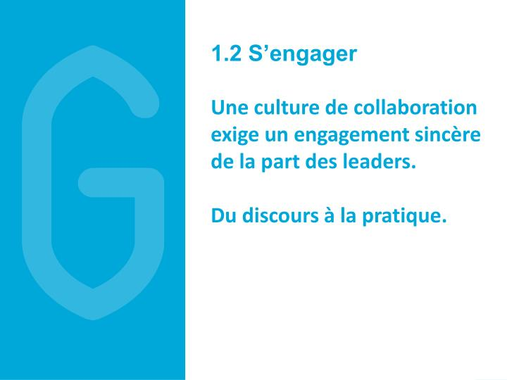 1.2 S'engager