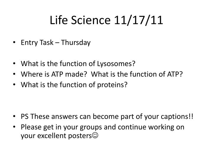 Life Science 11/17/11