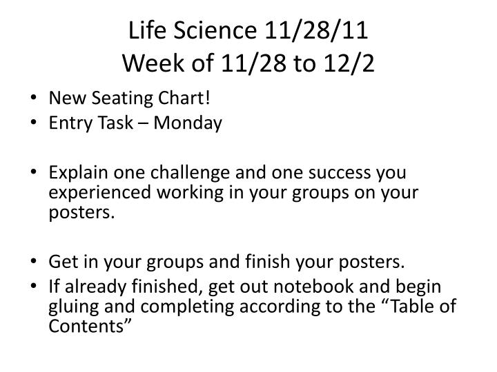 Life Science 11/28/11