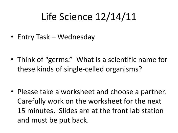 Life Science 12/14/11