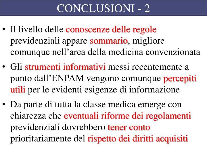 CONCLUSIONI - 2