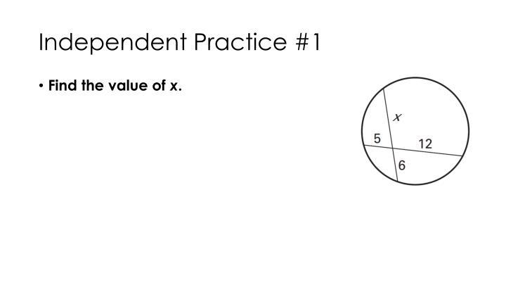Independent Practice #1