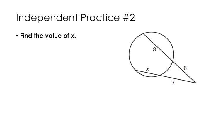 Independent Practice #2