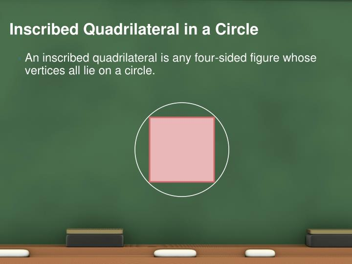 Inscribed Quadrilateral in a Circle