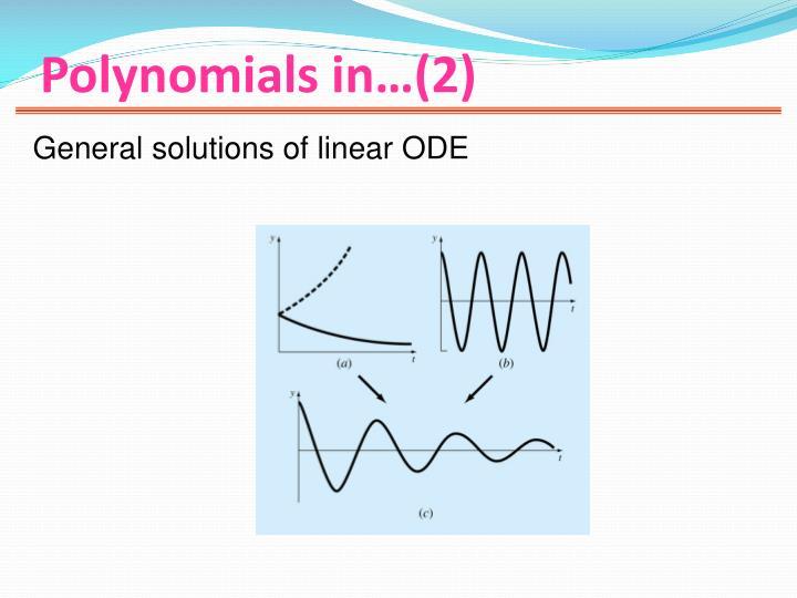 Polynomials in…(2)