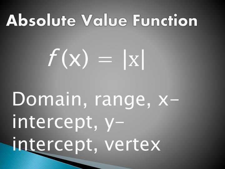 Absolute Value Function