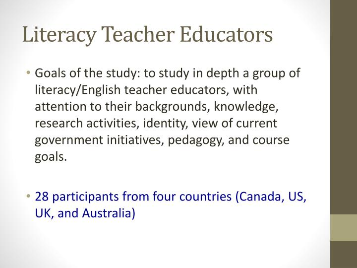Literacy teacher educators