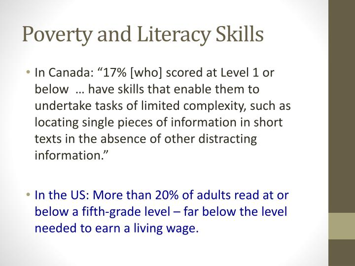 Poverty and Literacy Skills