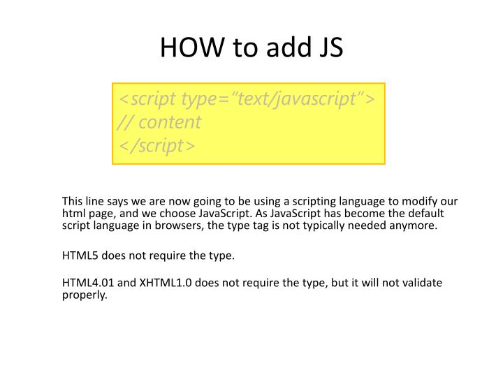 HOW to add JS