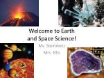 welcome to earth and space science