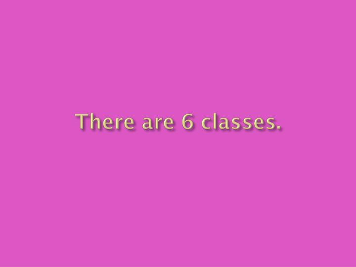 There are 6 classes.