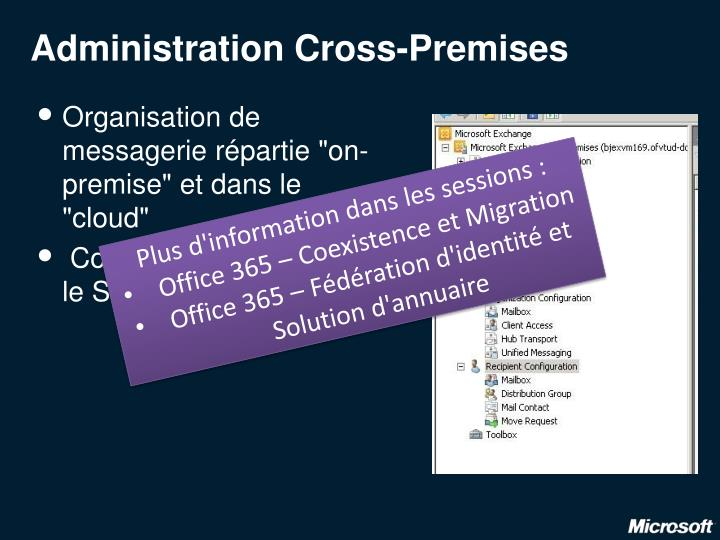 Administration Cross-Premises