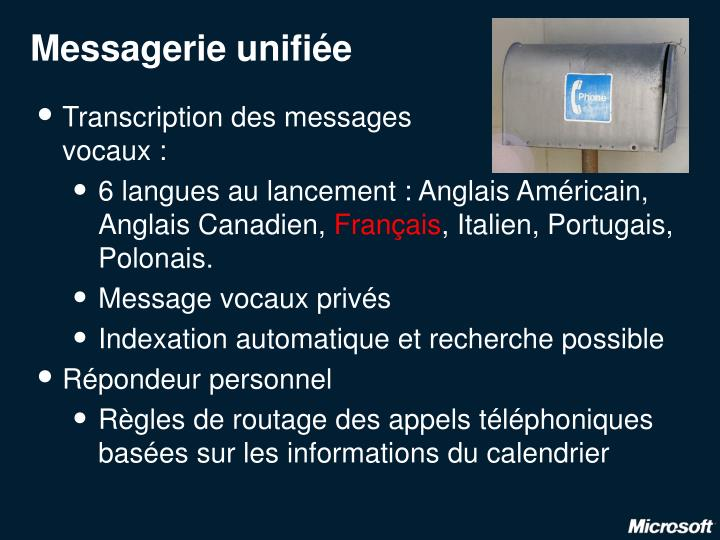 Messagerie unifiée