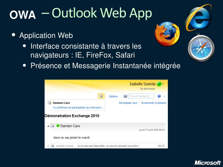 – Outlook Web App