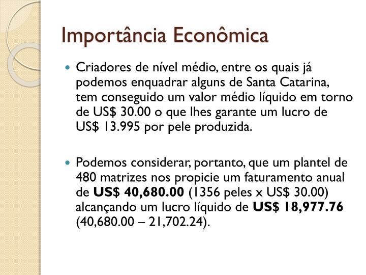 Importncia Econmica