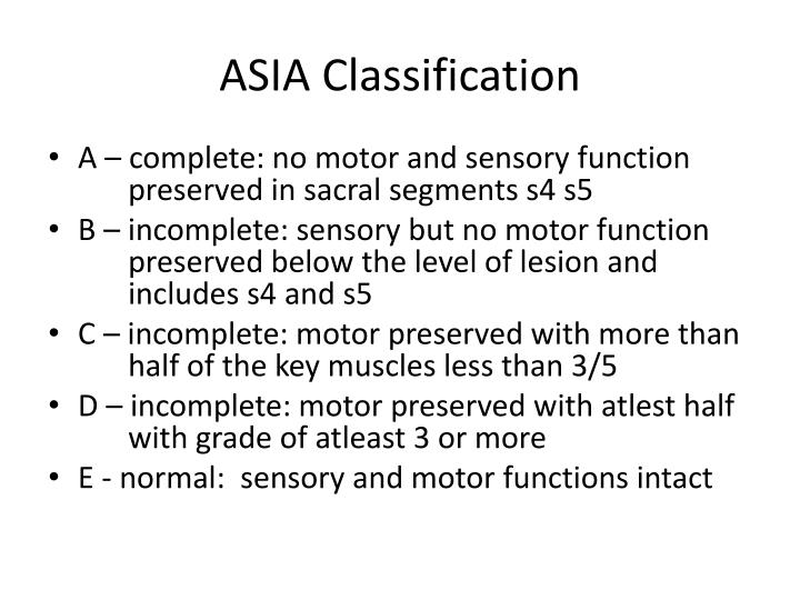 ASIA Classification