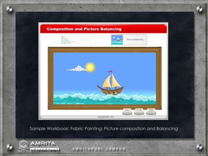 Sample Workbook: Fabric Painting: Picture composition and Balancing