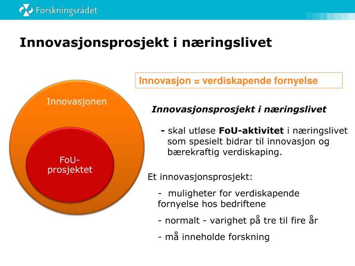 Innovasjonsprosjekt i næringslivet