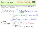 if power of secant is odd