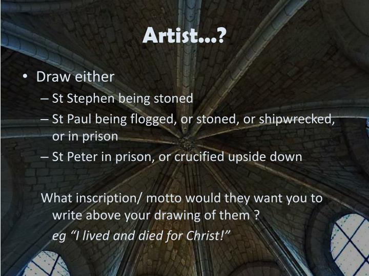 Artist...?