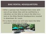 bike rental headquarters