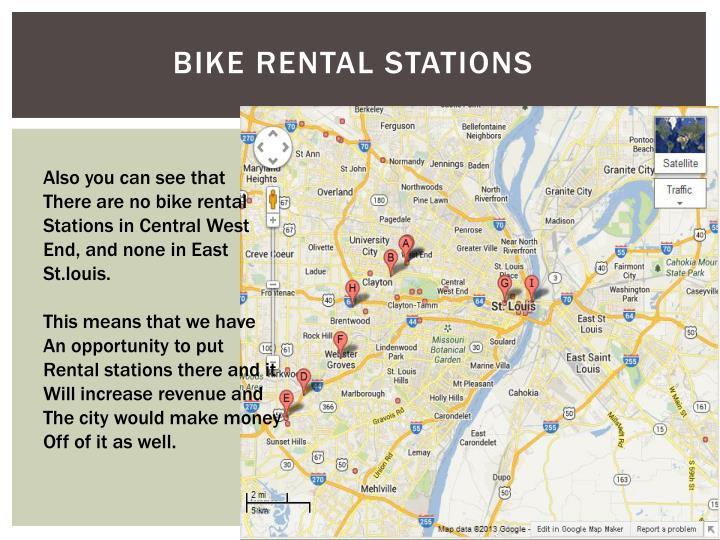 Bike rental stations