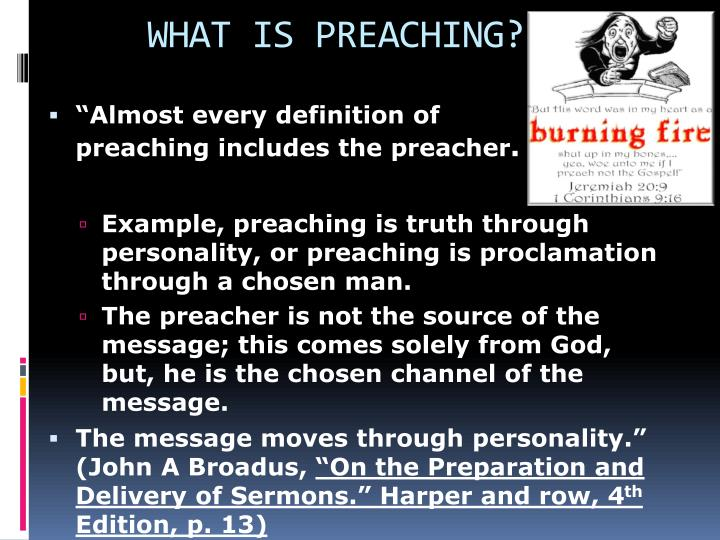 WHAT IS PREACHING?