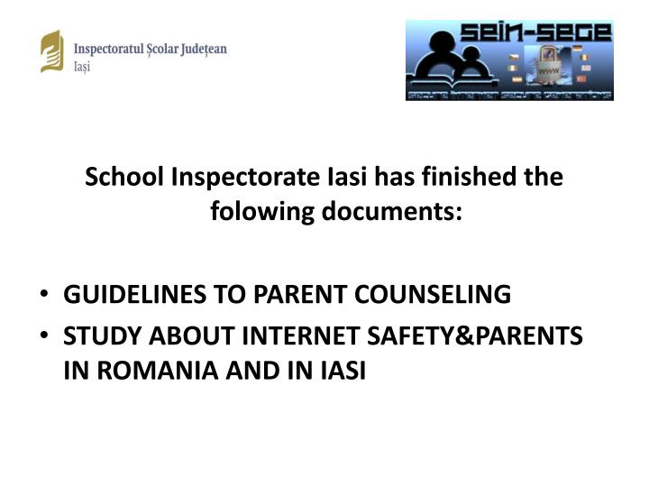 School Inspectorate Iasi has finished the