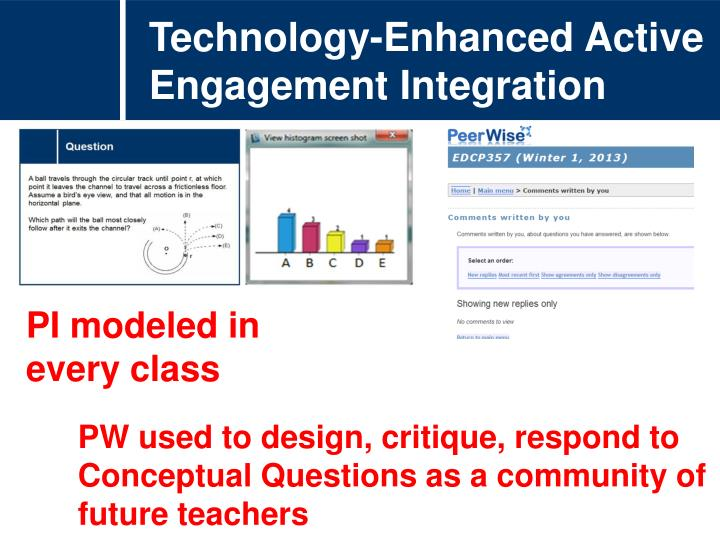 Technology-Enhanced Active Engagement Integration