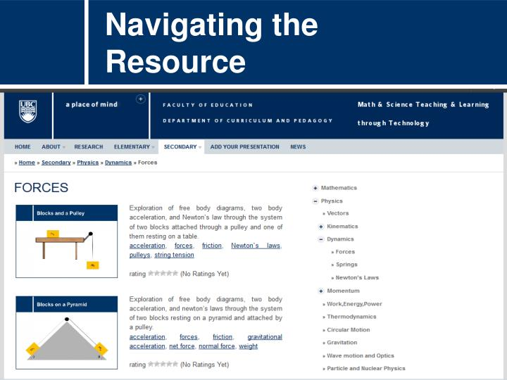 Navigating the Resource