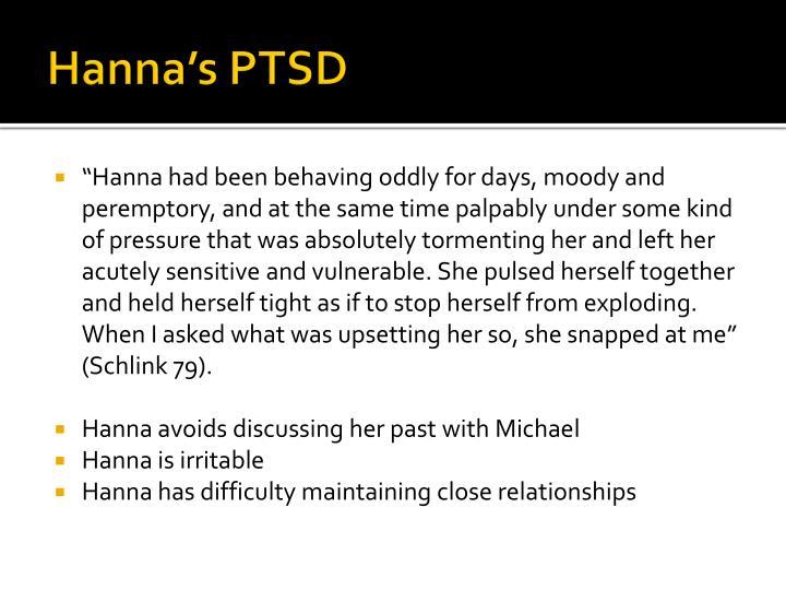Hanna's PTSD