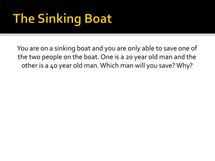 The Sinking Boat