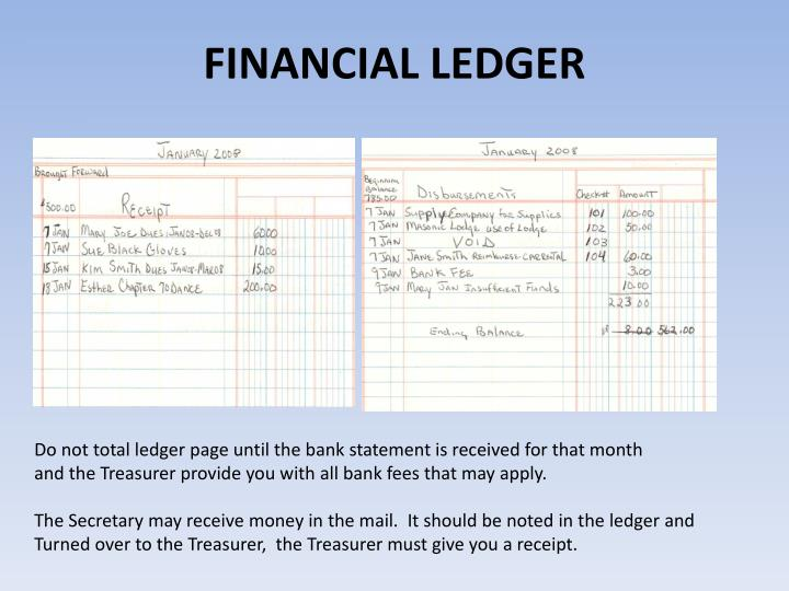 FINANCIAL LEDGER