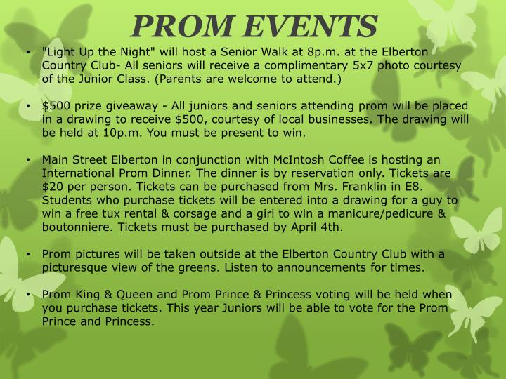 Prom events