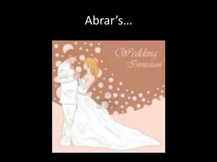 Abrar's