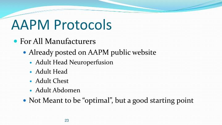 AAPM Protocols