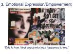 3 emotional expression empowerment