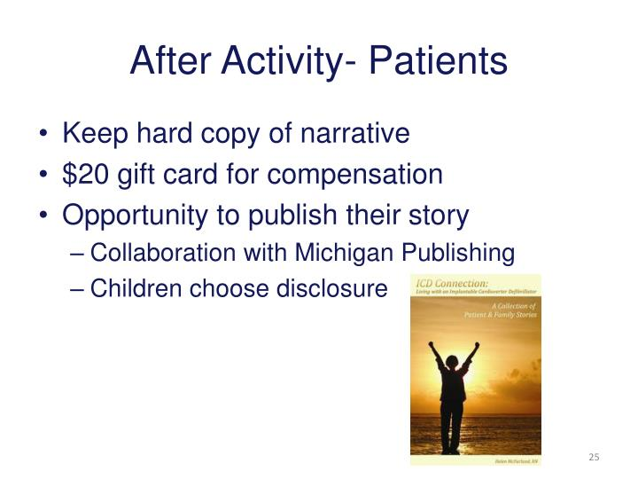 After Activity- Patients