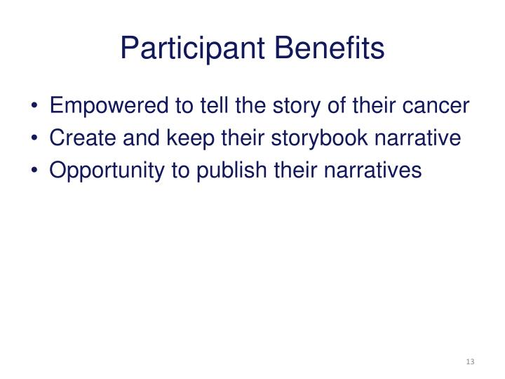 Participant Benefits