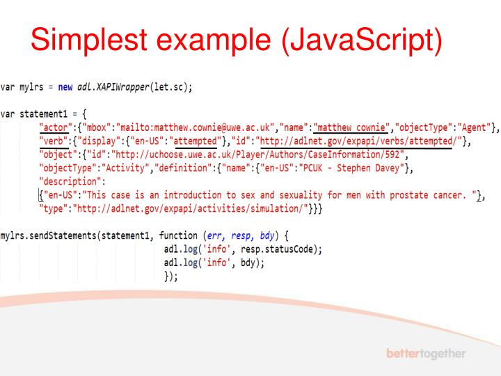 Simplest example (JavaScript)