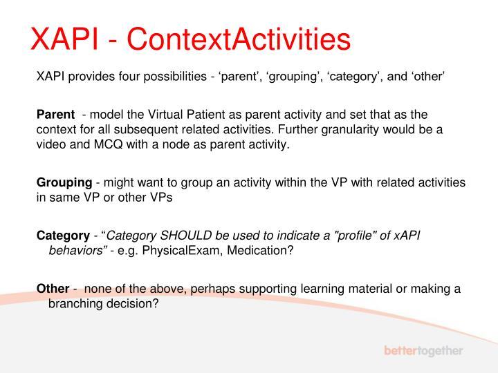 XAPI - ContextActivities