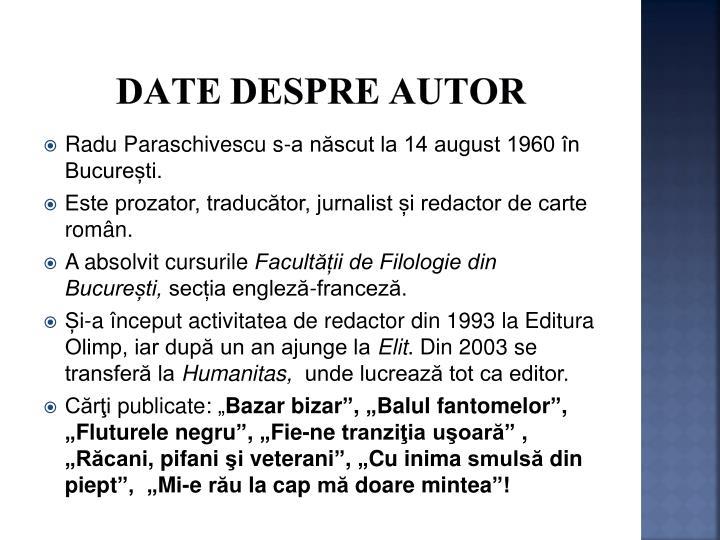 Date despre autor