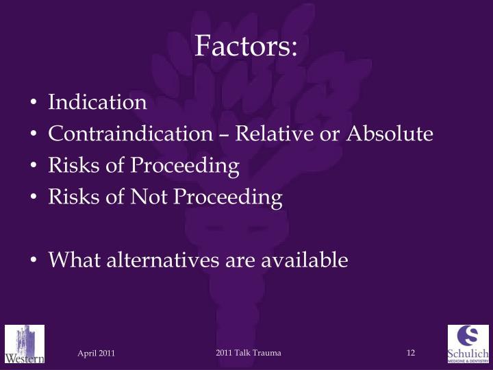 Factors: